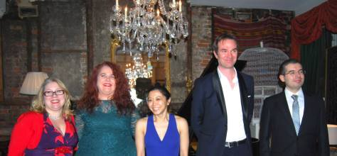Euphoric performers after the concert (L to R: Frances Wilson, Lorraine Womack-Banning, Petra Chong, Rob Foster & Jose Luis Gutierrez Sacristan)