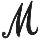 script-letter-m-402608