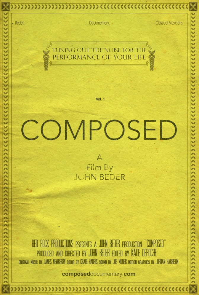 'Composed' – a film by John Beder. World premiere screening in New York