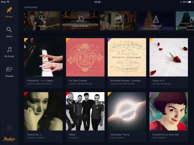flowkey-songs-front-screen