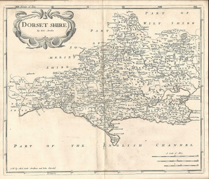Robert-Morden-County-Map-1753-Dorset-Dorsetshire-antique-map