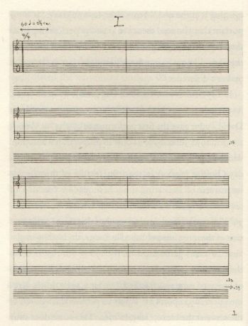 The score of John Cage's 4'33""