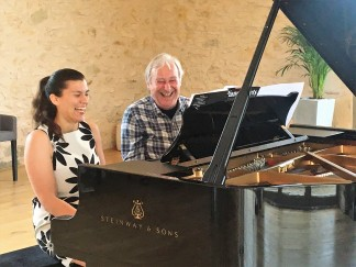 amateur pianists at a piano summer school