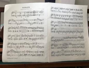 Original working score