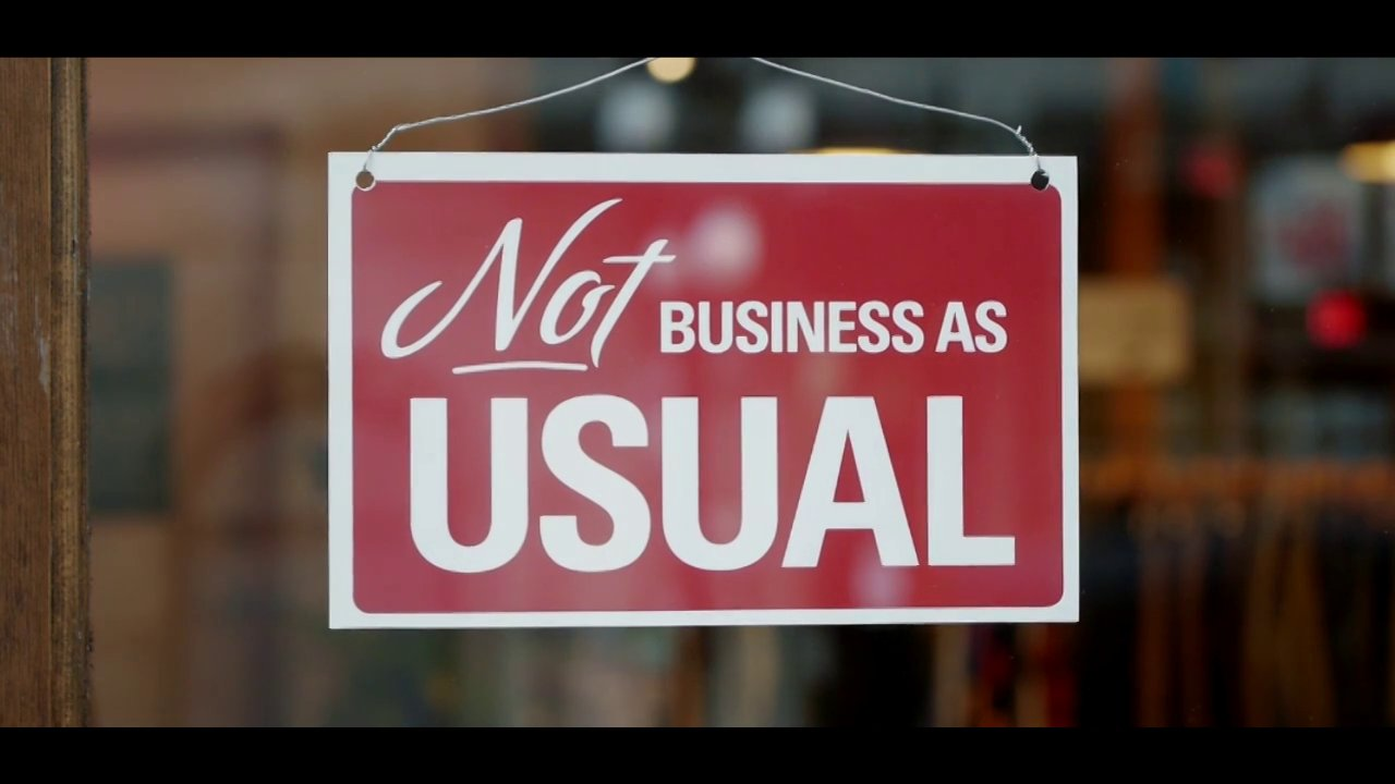 Say no to business as usual