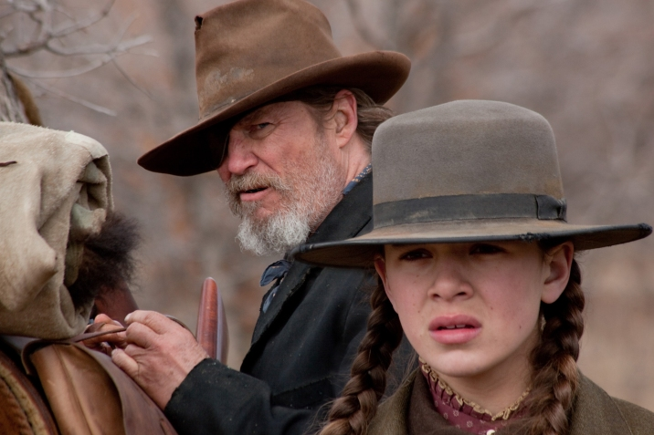 Jeff Bridges and Hailee Steinfeld in the Coen Brothers' remake of 'True Grit'